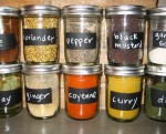 diy kitchen spice storage mason jars - kitchen decor handmade jars-f75884